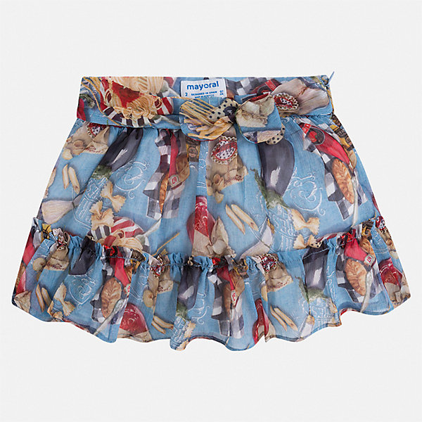 Юбка Mayoral для девочкиЮбки<br>Характеристики товара:<br><br>• цвет: голубой<br>• состав ткани верха: 100% полиэстер<br>• подкладка: 50% полиэстер, 50% хлопок<br>• сезон: лето<br>• застежка: молния<br>• страна бренда: Испания<br>• стиль и качество Mayoral<br><br>Легкая юбка для девочки декорирована цветочным принтом. Такая детская юбка от известного бренда Майорал отлично подходит для теплого времени года. Эта детская юбка дополнена удобной застежкой. <br><br>Юбку для девочки Mayoral (Майорал) можно купить в нашем интернет-магазине.<br>Ширина мм: 207; Глубина мм: 10; Высота мм: 189; Вес г: 183; Цвет: синий; Возраст от месяцев: 96; Возраст до месяцев: 108; Пол: Женский; Возраст: Детский; Размер: 134,98,104,110,116,122,128; SKU: 7549939;