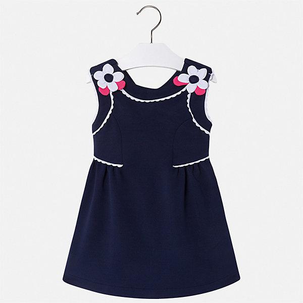 Платье Mayoral для девочкиПлатья<br>Характеристики товара:<br><br>• цвет: мульти<br>• состав ткани верха: 96% полиэстер, 4% эластан<br>• сезон: лето<br>• застежка: молния<br>• без рукавов<br>• страна бренда: Испания<br>• стиль и качество Mayoral<br><br>Такое платье для девочки отличается стильным продуманным дизайном. Это детское платье сделано из качественного материала. Красивое платье для девочки от Майорал поможет обеспечить ребенку комфорт, оно хорошо сочетается с различной обувью. <br><br>Платье для девочки Mayoral (Майорал) можно купить в нашем интернет-магазине.<br>Ширина мм: 236; Глубина мм: 16; Высота мм: 184; Вес г: 177; Цвет: синий; Возраст от месяцев: 24; Возраст до месяцев: 36; Пол: Женский; Возраст: Детский; Размер: 98,134,128,122,116,110,104; SKU: 7550122;