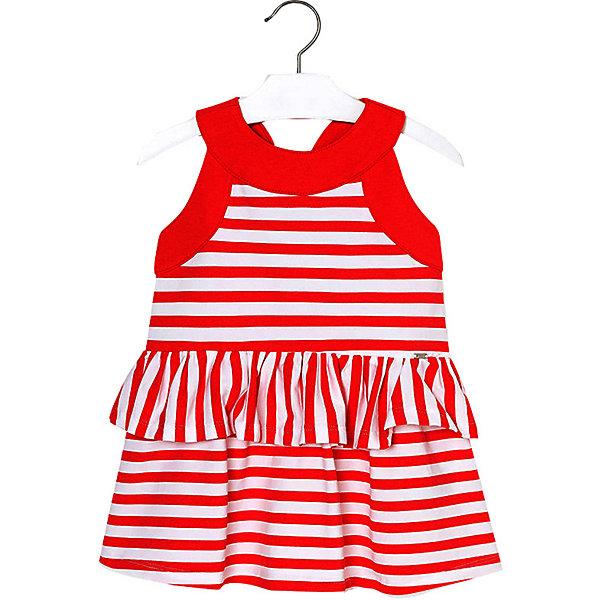 Купить Платье Mayoral для девочки, Марокко, красный, 92, 134, 128, 122, 116, 110, 104, 98, Женский
