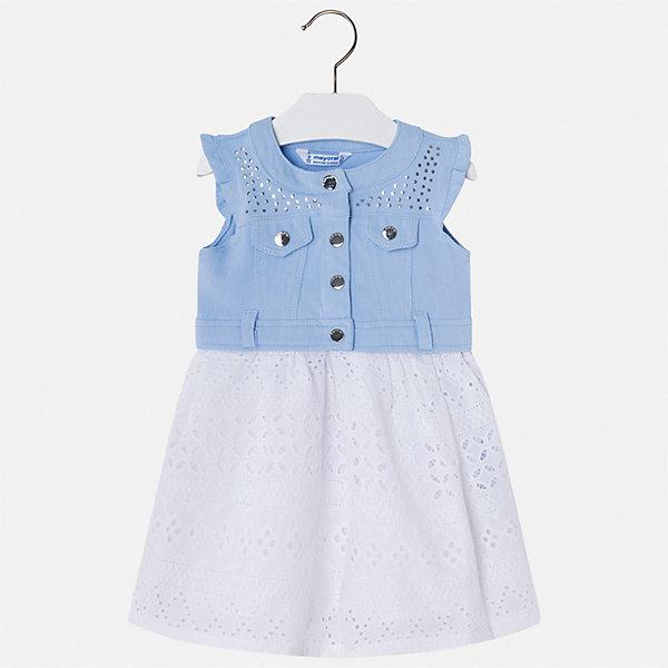 Купить Платье Mayoral для девочки, Китай, голубой, 92, 134, 128, 122, 116, 110, 104, 98, Женский