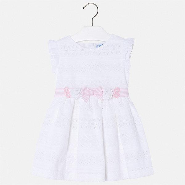 Платье Mayoral для девочкиНарядные платья<br>Характеристики товара:<br><br>• цвет: белый<br>• состав ткани верха: 100% хлопок<br>• подкладка: 100% хлопок<br>• сезон: лето<br>• застежка: молния<br>• без рукавов<br>• страна бренда: Испания<br>• стиль и качество Mayoral<br><br>Красивое детское платье отличается качественными фурнитурой и материалом. Это платье для девочки от испанской компании Майорал опытные европейские дизайнеры создали специально для детей. Платье для девочки от Майорал поможет обеспечить ребенку удобство. <br><br>Платье для девочки Mayoral (Майорал) можно купить в нашем интернет-магазине.<br>Ширина мм: 236; Глубина мм: 16; Высота мм: 184; Вес г: 177; Цвет: белый; Возраст от месяцев: 24; Возраст до месяцев: 36; Пол: Женский; Возраст: Детский; Размер: 98,92,134,128,122,116,110,104; SKU: 7550439;