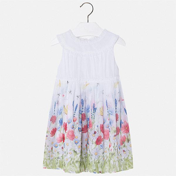 Платье Mayoral для девочкиПлатья и сарафаны<br>Характеристики товара:<br><br>• цвет: белый<br>• состав ткани верха: 100% полиэстер<br>• подкладка: 100% вискоза<br>• сезон: лето<br>• застежка: молния<br>• без рукавов<br>• страна бренда: Испания<br>• стиль и качество Mayoral<br><br>Легкое детское платье отличается качественными фурнитурой и материалом. Это платье для девочки от испанской компании Майорал опытные европейские дизайнеры создали специально для детей. Платье для девочки от Майорал поможет обеспечить ребенку удобство. <br><br>Платье для девочки Mayoral (Майорал) можно купить в нашем интернет-магазине.<br>Ширина мм: 236; Глубина мм: 16; Высота мм: 184; Вес г: 177; Цвет: лиловый; Возраст от месяцев: 18; Возраст до месяцев: 24; Пол: Женский; Возраст: Детский; Размер: 92,134,128,122,116,110,104,98; SKU: 7550466;