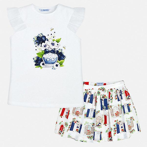 Купить Комплект: юбка Mayoral для девочки, Китай, синий, 92, 134, 128, 122, 116, 110, 104, 98, Женский