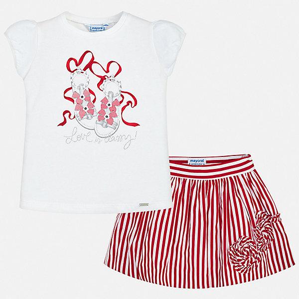 Купить Комплект: юбка Mayoral для девочки, Китай, красный, 122, 134, 116, 110, 104, 98, 92, 128, Женский