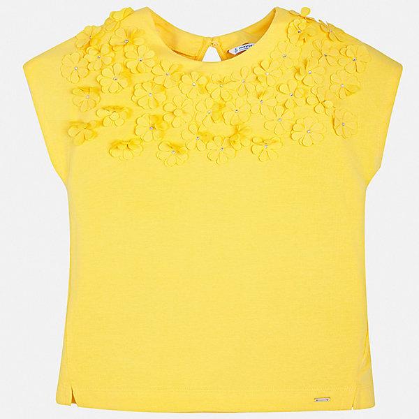 Купить Футболка Mayoral для девочки, Индия, желтый, 128/134, 170, 164, 158, 152, 140, Женский