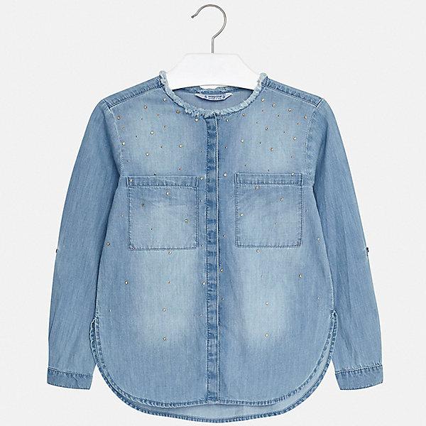Купить Рубашка Mayoral для девочки, Индия, разноцветный, 164, 158, 152, 140, 128/134, 170, Женский