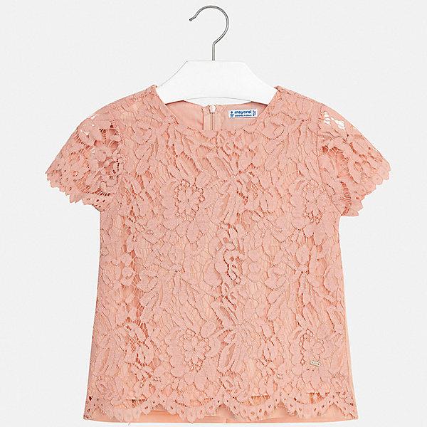 Купить Блуза Mayoral для девочки, Китай, бежевый, 170, 128/134, 164, 158, 152, 140, Женский
