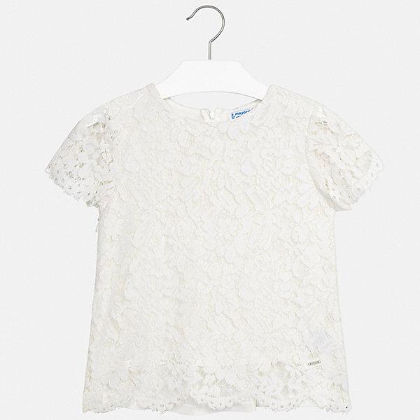 Купить Блуза Mayoral для девочки, Китай, бежевый, 128/134, 170, 164, 158, 152, 140, Женский