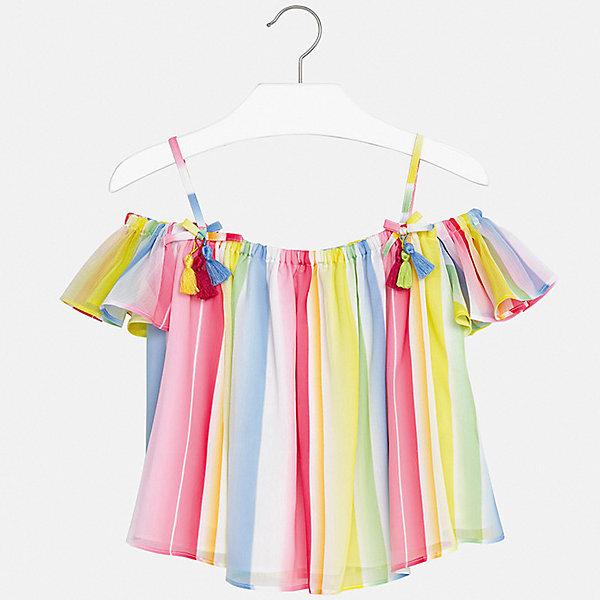 Блуза Mayoral для девочкиБлузки и рубашки<br>Характеристики товара:<br><br>• цвет: фуксия<br>• состав ткани: 100% полиэстер<br>• подкладка: 100% вискоза<br>• сезон: лето<br>• короткие рукава<br>• страна бренда: Испания<br>• стиль и качество Mayoral<br><br>Яркая детская блуза сшита из качественного материала, поэтому она легкая и комфортная. Детская блуза поможет создать модный и удобный наряд для ребенка. Эта блуза для девочки от Mayoral - универсальная и комфортная базовая вещь для детского гардероба. <br><br>Блузу Mayoral (Майорал) для девочки можно купить в нашем интернет-магазине.<br>Ширина мм: 186; Глубина мм: 87; Высота мм: 198; Вес г: 197; Цвет: розовый; Возраст от месяцев: 168; Возраст до месяцев: 180; Пол: Женский; Возраст: Детский; Размер: 170,128/134,164,158,152,140; SKU: 7551326;