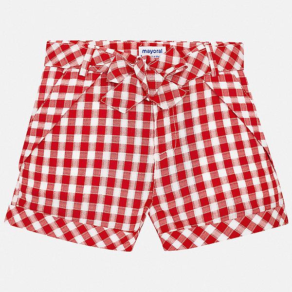 Шорты Mayoral для девочкиШорты, бриджи, капри<br>Характеристики товара:<br><br>• цвет: красный<br>• состав ткани: 100% хлопок<br>• сезон: лето<br>• регулируемая талия<br>• застежка: молния<br>• шлевки<br>• страна бренда: Испания<br>• стиль и качество Mayoral<br><br>Хлопковые шорты для девочки Mayoral украшены оригинальным декором. Эти шорты от Mayoral - отличный вариант комфортной одежды для жаркой погоды. Детские шорты сшиты из качественного дышащего материала. <br><br>Шорты Mayoral (Майорал) для девочки можно купить в нашем интернет-магазине.<br>Ширина мм: 191; Глубина мм: 10; Высота мм: 175; Вес г: 273; Цвет: красный; Возраст от месяцев: 96; Возраст до месяцев: 108; Пол: Женский; Возраст: Детский; Размер: 128/134,170,164,158,152,140; SKU: 7551396;