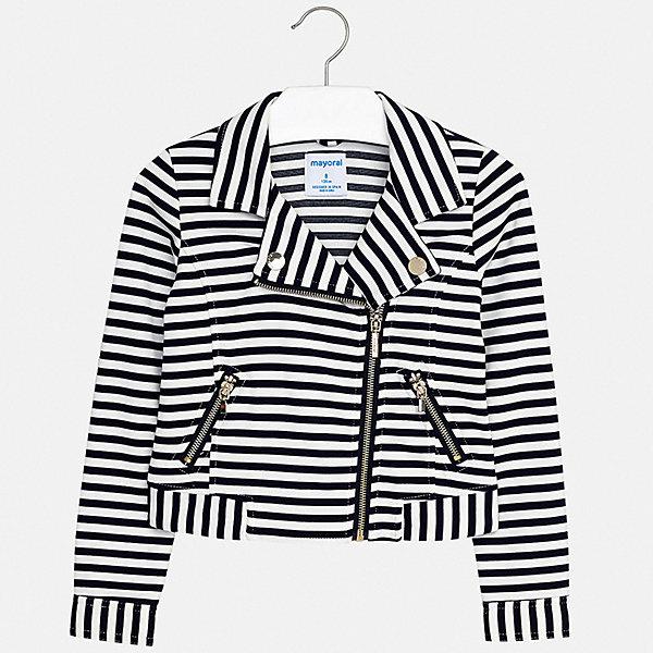 Пиджак Mayoral для девочкиКостюмы и пиджаки<br>Характеристики товара:<br><br>• цвет: синий<br>• состав ткани: 64% полиэстер, 35% вискоза, 1% эластан<br>• сезон: демисезон<br>• длинные рукава<br>• застежка: молния<br>• страна бренда: Испания<br>• стиль и качество Mayoral<br><br>Оригинальный детский пиджак сделан из приятного на ощупь материала и качественной фурнитуры. Пиджак для девочки Mayoral дополнен удобной застежкой. Пиджак для ребенка отличается стильным силуэтом. Детский пиджак обеспечит ребенку комфорт. <br><br>Пиджак Mayoral (Майорал) для девочки можно купить в нашем интернет-магазине.<br>Ширина мм: 190; Глубина мм: 74; Высота мм: 229; Вес г: 236; Цвет: синий; Возраст от месяцев: 96; Возраст до месяцев: 108; Пол: Женский; Возраст: Детский; Размер: 128/134,170,164,158,152,140; SKU: 7551554;