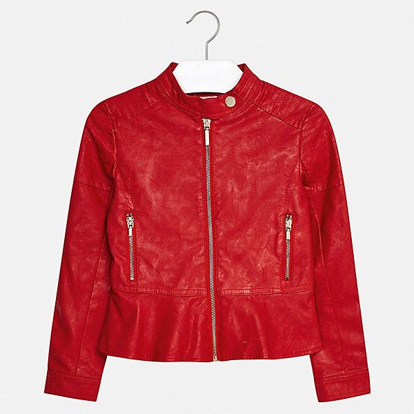 Куртка Mayoral для девочкиВерхняя одежда<br>Характеристики товара:<br><br>• цвет: красный<br>• состав ткани: 100% полиуретан<br>• подкладка: 100% полиэстер<br>• утеплитель: нет<br>• сезон: демисезон<br>• особенности куртки: без капюшона<br>• застежка: молния<br>• страна бренда: Испания<br>• стиль и качество Mayoral<br><br>Эффектная куртка для девочки отличается стильным продуманным кроем от европейских дизайнеров, смотрится очень модно. В детской куртке удобная застежка. Детская куртка сделана из качественного материала и фурнитуры. <br><br>Куртку Mayoral (Майорал) для девочки можно купить в нашем интернет-магазине.<br>Ширина мм: 356; Глубина мм: 10; Высота мм: 245; Вес г: 519; Цвет: красный; Возраст от месяцев: 96; Возраст до месяцев: 108; Пол: Женский; Возраст: Детский; Размер: 128/134,170,164,158,152,140; SKU: 7551589;