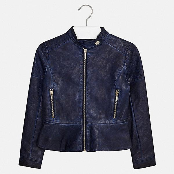 Куртка Mayoral для девочкиВерхняя одежда<br>Характеристики товара:<br><br>• цвет: синий<br>• состав ткани: 100% полиуретан<br>• подкладка: 100% полиэстер<br>• утеплитель: нет<br>• сезон: демисезон<br>• особенности куртки: без капюшона<br>• застежка: молния<br>• страна бренда: Испания<br>• стиль и качество Mayoral<br><br>Синяя куртка для девочки от Майорал поможет обеспечить ребенку комфорт и тепло. Детская куртка отличается модным и продуманным дизайном. В куртке для девочки от испанской компании Майорал ребенок будет выглядеть модно, а чувствовать себя - комфортно. <br><br>Куртку Mayoral (Майорал) для девочки можно купить в нашем интернет-магазине.<br>Ширина мм: 356; Глубина мм: 10; Высота мм: 245; Вес г: 519; Цвет: синий; Возраст от месяцев: 96; Возраст до месяцев: 108; Пол: Женский; Возраст: Детский; Размер: 128/134,170,164,158,152,140; SKU: 7551596;