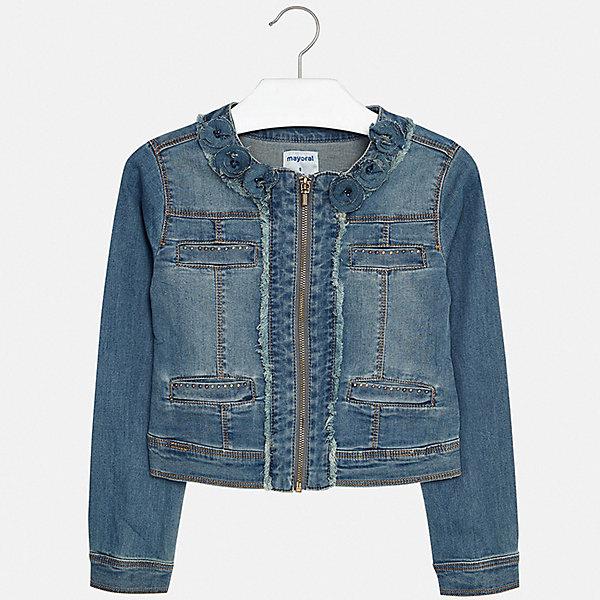 Купить Куртка Mayoral для девочки, Индия, черный, 128/134, 152, 170, 164, 158, 140, Женский