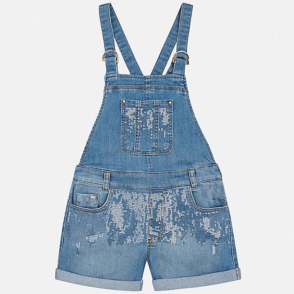 Комбинезон Mayoral для девочкиДжинсовая одежда<br>Характеристики товара:<br><br>• цвет: голубой<br>• состав ткани: 98% хлопок, 2% эластан<br>• сезон: лето<br>• застежка: кнопки<br>• шлевки<br>• пайетки<br>• страна бренда: Испания<br>• стиль и качество Mayoral<br><br>Джинсовый детский полукомбинезон создан специально для девочек. Этот детский полукомбинезон подойдет для ношения в теплое время года. Хлопковый полукомбинезон для девочки сшит из приятного на ощупь материала. Полукомбинезон для девочки Mayoral удобно сидит по фигуре. <br><br>Полукомбинезон Mayoral (Майорал) для девочки можно купить в нашем интернет-магазине.<br>Ширина мм: 356; Глубина мм: 10; Высота мм: 245; Вес г: 519; Цвет: голубой; Возраст от месяцев: 96; Возраст до месяцев: 108; Пол: Женский; Возраст: Детский; Размер: 128/134,170,164,158,152,140; SKU: 7551819;