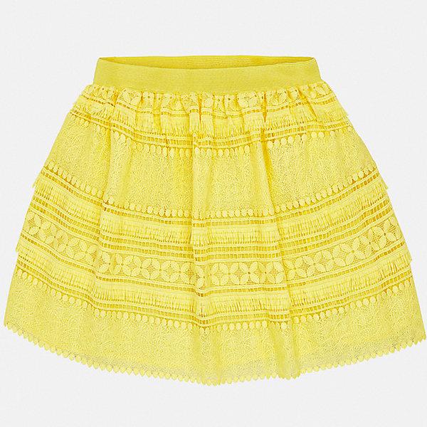 Юбка Mayoral для девочкиЮбки<br>Характеристики товара:<br><br>• цвет: желтый<br>• состав ткани верха: 100% полиэстер<br>• подкладка: 100% вискоза<br>• сезон: круглый год<br>• особенности модели: нарядная<br>• талия: резинка<br>• страна бренда: Испания<br>• стиль и качество Mayoral<br><br>Оригинальная детская юбка - отличный вариант основы для эффектного наряда. Такая юбка для девочки сделана из качественного легкого материала, отлично держащего форму и цвет. Удобная детская юбка от известного бренда Майорал выглядит очень модно.<br><br>Юбку для девочки Mayoral (Майорал) можно купить в нашем интернет-магазине.<br>Ширина мм: 207; Глубина мм: 10; Высота мм: 189; Вес г: 183; Цвет: желтый; Возраст от месяцев: 96; Возраст до месяцев: 108; Пол: Женский; Возраст: Детский; Размер: 128/134,170,164,158,152,140; SKU: 7552008;