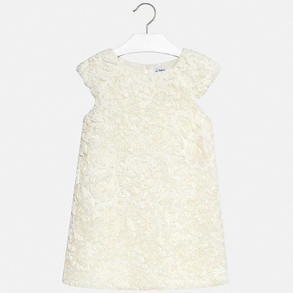 Платье Mayoral для девочкиПлатья и сарафаны<br>Характеристики товара:<br><br>• цвет: белый<br>• состав ткани верха: 100% полиэстер<br>• подкладка: 50% полиэстер, 50% хлопок<br>• сезон: круглый год<br>• особенности модели: нарядная<br>• застежка: молния<br>• без рукавов<br>• страна бренда: Испания<br>• стиль и качество Mayoral<br><br>Это платье для девочки от испанской компании Майорал создали опытные европейские дизайнеры специально для детей. Такое платье для девочки от Майорал поможет обеспечить ребенку удобство. Детское платье отличается качественными фурнитурой и материалом. <br><br>Платье для девочки Mayoral (Майорал) можно купить в нашем интернет-магазине.<br>Ширина мм: 236; Глубина мм: 16; Высота мм: 184; Вес г: 177; Цвет: бежевый; Возраст от месяцев: 96; Возраст до месяцев: 108; Пол: Женский; Возраст: Детский; Размер: 128/134,170,164,158,152,140; SKU: 7552026;