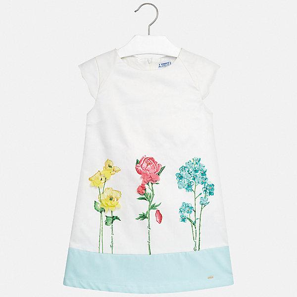 Платье Mayoral для девочкиПлатья и сарафаны<br>Характеристики товара:<br><br>• цвет: белый<br>• состав ткани верха: 100% полиэстер<br>• подкладка: 80% полиэстер, 20% хлопок<br>• сезон: лето<br>• застежка: молния<br>• без рукавов<br>• страна бренда: Испания<br>• стиль и качество Mayoral<br><br>Принтованное детское платье сделано из качественного приятного на ощупь материала. Благодаря легкой ткани детского платья для девочки создаются комфортные условия для тела. Удобное платье для девочки отличается стильным продуманным дизайном. <br><br>Платье для девочки Mayoral (Майорал) можно купить в нашем интернет-магазине.<br>Ширина мм: 236; Глубина мм: 16; Высота мм: 184; Вес г: 177; Цвет: голубой; Возраст от месяцев: 96; Возраст до месяцев: 108; Пол: Женский; Возраст: Детский; Размер: 128/134,170,164,158,152,140; SKU: 7552075;