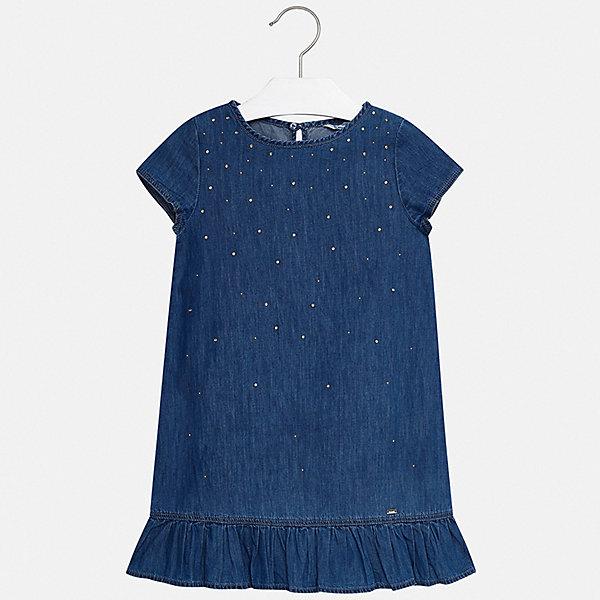 Купить Платье Mayoral для девочки, Индия, голубой, 152, 140, 128/134, 170, 164, 158, Женский