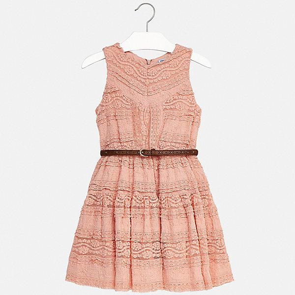 Платье Mayoral для девочкиПлатья и сарафаны<br>Характеристики товара:<br><br>• цвет: розовый<br>• комплектация: платье, ремень<br>• состав ткани верха: 46% хлопок, 45% полиамид, 9% эластан<br>• подкладка: 100% хлопок<br>• сезон: лето<br>• застежка: пуговицы<br>• без рукавов<br>• страна бренда: Испания<br>• стиль и качество Mayoral<br><br>Ажурное платье для девочки отличается стильным продуманным дизайном, разработанным специально для детей, которые любят модно одеваться. Это детское платье сделано из качественного приятного на ощупь материала. Благодаря легкой ткани детского платья для девочки создаются комфортные условия для тела. <br><br>Платье для девочки Mayoral (Майорал) можно купить в нашем интернет-магазине.<br>Ширина мм: 236; Глубина мм: 16; Высота мм: 184; Вес г: 177; Цвет: бежевый; Возраст от месяцев: 144; Возраст до месяцев: 156; Пол: Женский; Возраст: Детский; Размер: 128/134,158,170,164,152,140; SKU: 7552379;
