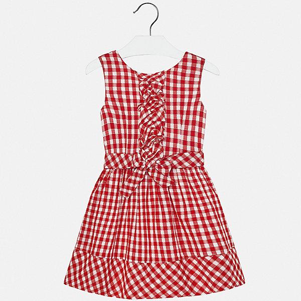 Платье Mayoral для девочкиПлатья и сарафаны<br>Характеристики товара:<br><br>• цвет: черный<br>• состав ткани верха: 100% хлопок<br>• подкладка: 80% полиэстер, 20% хлопок<br>• сезон: лето<br>• застежка: молния<br>• без рукавов<br>• страна бренда: Испания<br>• стиль и качество Mayoral<br><br>Легкое платье для девочки от Майорал разработано европейскими дизайнерами специально для детей. Такое платье для девочки отличается оригинальным кроем. Это детское платье от Mayoral сделано из качественного материала. <br><br>Платье для девочки Mayoral (Майорал) можно купить в нашем интернет-магазине.<br>Ширина мм: 236; Глубина мм: 16; Высота мм: 184; Вес г: 177; Цвет: красный; Возраст от месяцев: 96; Возраст до месяцев: 108; Пол: Женский; Возраст: Детский; Размер: 128/134,170,164,158,152,140; SKU: 7552407;