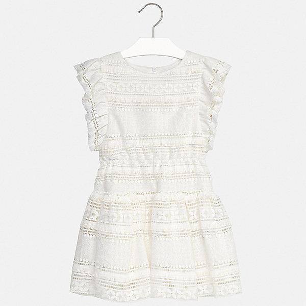 Платье Mayoral для девочкиПлатья и сарафаны<br>Характеристики товара:<br><br>• цвет: белый<br>• состав ткани верха: 100% полиэстер<br>• подкладка: 100% вискоза<br>• сезон: лето<br>• застежка: молния<br>• без рукавов<br>• страна бренда: Испания<br>• стиль и качество Mayoral<br><br>Такое платье для девочки отличается стильным продуманным дизайном, разработанным специально для детей, которые любят модно одеваться. Это детское платье сделано из качественного приятного на ощупь материала. Благодаря легкой ткани детского платья для девочки создаются комфортные условия для тела. <br><br>Платье для девочки Mayoral (Майорал) можно купить в нашем интернет-магазине.<br>Ширина мм: 236; Глубина мм: 16; Высота мм: 184; Вес г: 177; Цвет: бежевый; Возраст от месяцев: 96; Возраст до месяцев: 108; Пол: Женский; Возраст: Детский; Размер: 128/134,170,164,158,152,140; SKU: 7552421;