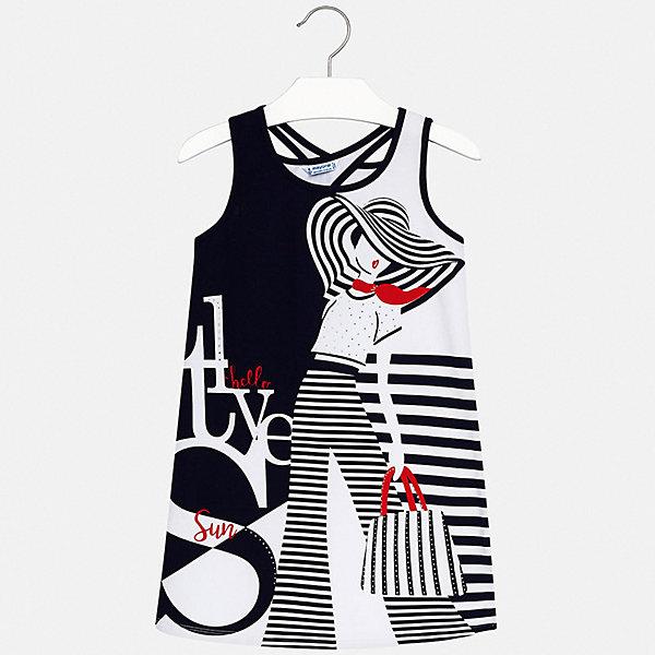 Платье Mayoral для девочкиПлатья и сарафаны<br>Характеристики товара:<br><br>• цвет: синий<br>• состав ткани: 95% хлопок, 5% эластан<br>• сезон: лето<br>• без рукавов<br>• стразы<br>• страна бренда: Испания<br>• стиль и качество Mayoral<br><br>Принтованное платье для девочки от Майорал разработано европейскими дизайнерами специально для детей. Такое платье для девочки отличается оригинальным кроем. Это детское платье от Mayoral сделано из качественного материала. <br><br>Платье для девочки Mayoral (Майорал) можно купить в нашем интернет-магазине.<br>Ширина мм: 236; Глубина мм: 16; Высота мм: 184; Вес г: 177; Цвет: синий; Возраст от месяцев: 168; Возраст до месяцев: 180; Пол: Женский; Возраст: Детский; Размер: 170,128/134,140,152,158,164; SKU: 7552491;
