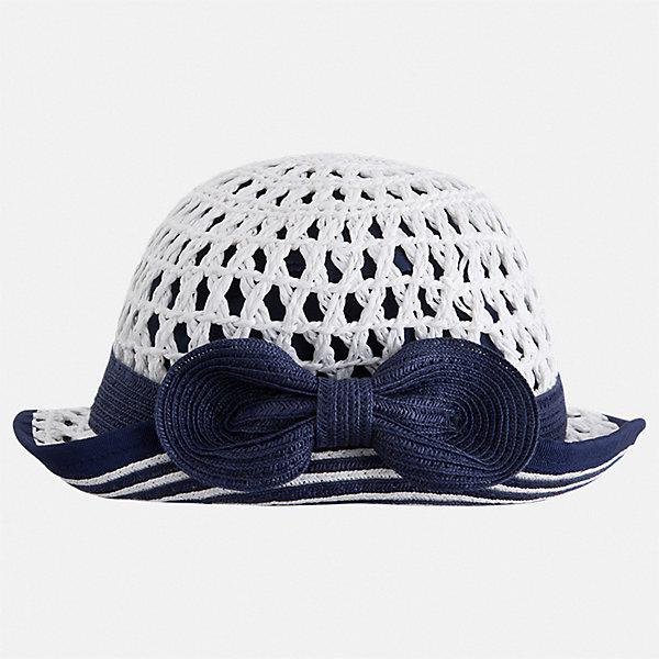 Шляпа Mayoral для девочкиЛетние<br>Характеристики товара:<br><br>• цвет: белый<br>• состав ткани: 100% бумага<br>• подкладка: 80% полиэстер, 20% хлопок<br>• сезон: лето<br>• страна бренда: Испания<br>• стиль и качество Mayoral<br><br>Модная шляпа для детей от испанской компании Mayoral отличается оригинальным и современным дизайном. Легкая шляпа для девочки от Майорал стильно смотрится. Детская шляпа обеспечивает комфорт даже в жаркую погоду благодаря возможности вентиляции. <br><br>Шляпу Mayoral (Майорал) для девочки можно купить в нашем интернет-магазине.<br>Ширина мм: 89; Глубина мм: 117; Высота мм: 44; Вес г: 155; Цвет: синий; Возраст от месяцев: 24; Возраст до месяцев: 36; Пол: Женский; Возраст: Детский; Размер: 50,54,52; SKU: 7552657;