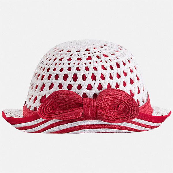 Шляпа Mayoral для девочкиЛетние<br>Характеристики товара:<br><br>• цвет: белый<br>• состав ткани: 100% бумага<br>• подкладка: 80% полиэстер, 20% хлопок<br>• сезон: лето<br>• страна бренда: Испания<br>• стиль и качество Mayoral<br><br>Бумажная шляпа для девочки от популярного бренда Mayoral отличается оригинальным декором в виде ленты. Легкая детская шляпа имеет поля, обеспечивающие дополнительную защиту от солнца. В такой шляпе для детей от испанской компании Майорал ребенок будет защищен от перегревания головы в жару. <br><br>Шляпу Mayoral (Майорал) для девочки можно купить в нашем интернет-магазине.<br>Ширина мм: 89; Глубина мм: 117; Высота мм: 44; Вес г: 155; Цвет: красный; Возраст от месяцев: 72; Возраст до месяцев: 84; Пол: Женский; Возраст: Детский; Размер: 54,50,52; SKU: 7552661;