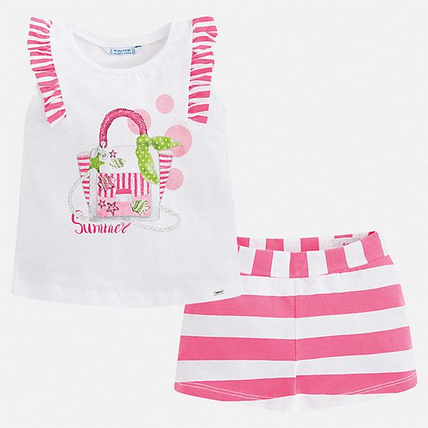 Купить Комплект:шорты, футболка Mayoral для девочки, Китай, розовый, 92, 134, 128, 122, 116, 110, 104, 98, Женский