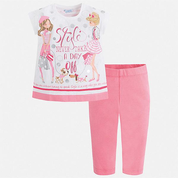 Купить Комплект:бриджи, футболка Mayoral для девочки, Китай, розовый, 92, 134, 128, 122, 116, 110, 104, 98, Женский