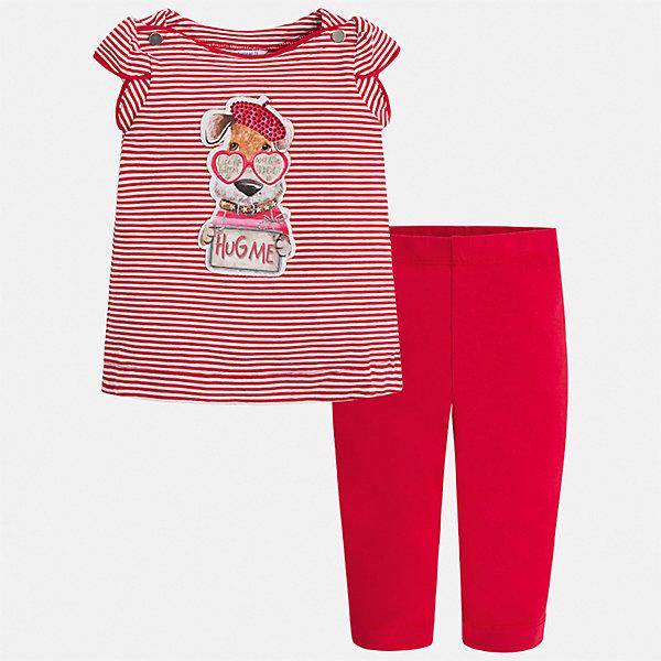 Купить Комплект:леггинсы, блузка Mayoral для девочки, Турция, красный, 92, 134, 128, 122, 116, 110, 104, 98, Женский