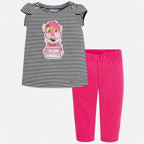 Купить Комплект:леггинсы, блузка Mayoral для девочки, Китай, розовый, 116, 134, 128, 122, 110, 104, 98, 92, Женский