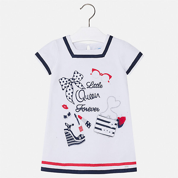 Платье Mayoral для девочкиПлатья и сарафаны<br>Характеристики товара:<br><br>• цвет: белый<br>• состав ткани: 95% хлопок, 5% эластан<br>• сезон: лето<br>• застежка: пуговица<br>• короткие рукава<br>• страна бренда: Испания<br>• стиль и качество Mayoral<br><br>Эффектное платье для девочки от Майорал разработано европейскими дизайнерами специально для детей. Такое платье для девочки отличается оригинальным кроем. Это детское платье от Mayoral сделано из качественного материала. <br><br>Платье для девочки Mayoral (Майорал) можно купить в нашем интернет-магазине.<br>Ширина мм: 236; Глубина мм: 16; Высота мм: 184; Вес г: 177; Цвет: белый; Возраст от месяцев: 18; Возраст до месяцев: 24; Пол: Женский; Возраст: Детский; Размер: 92,134,128,122,116,110,104,98; SKU: 7553996;