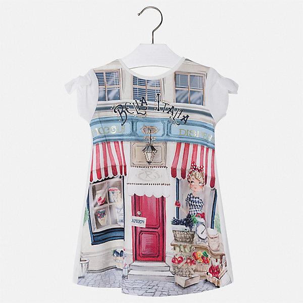 Купить Платье Mayoral для девочки, Турция, бежевый, 92, 134, 128, 122, 104, 98, 116, 110, Женский