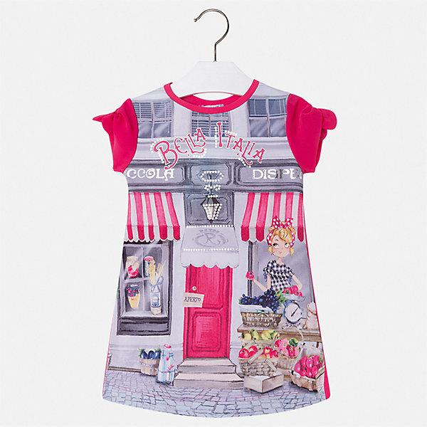Платье Mayoral для девочкиПлатья и сарафаны<br>Характеристики товара:<br><br>• цвет: розовый<br>• состав ткани верха: 65% полиэстер, 33% хлопок, 2% эластан<br>• подкладка: 100% хлопок<br>• сезон: лето<br>• короткие рукава<br>• страна бренда: Испания<br>• стиль и качество Mayoral<br><br>Стильное детское платье от Mayoral сделано из качественного материала. Это платье для девочки от Майорал разработано европейскими дизайнерами специально для детей. Такое платье для девочки отличается оригинальным декором. <br><br>Платье для девочки Mayoral (Майорал) можно купить в нашем интернет-магазине.<br>Ширина мм: 236; Глубина мм: 16; Высота мм: 184; Вес г: 177; Цвет: розовый; Возраст от месяцев: 18; Возраст до месяцев: 24; Пол: Женский; Возраст: Детский; Размер: 92,134,128,122,116,110,104,98; SKU: 7554050;
