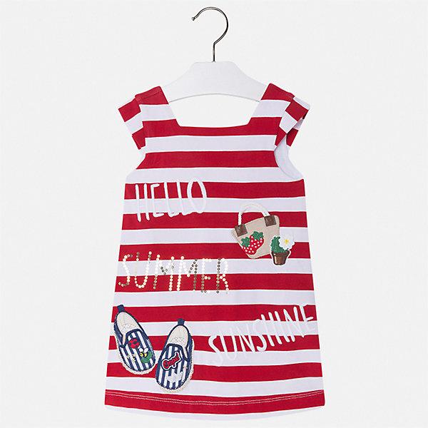 Платье Mayoral для девочкиПлатья и сарафаны<br>Характеристики товара:<br><br>• цвет: красный<br>• состав ткани верха: 95% хлопок, 5% эластан<br>• подкладка: 100% хлопок<br>• сезон: лето<br>• короткие рукава<br>• страна бренда: Испания<br>• стиль и качество Mayoral<br><br>Легкое детское платье от Mayoral сделано из качественного материала. Это платье для девочки от Майорал разработано европейскими дизайнерами специально для детей. Такое платье для девочки отличается оригинальным декором. <br><br>Платье для девочки Mayoral (Майорал) можно купить в нашем интернет-магазине.<br>Ширина мм: 236; Глубина мм: 16; Высота мм: 184; Вес г: 177; Цвет: красный; Возраст от месяцев: 18; Возраст до месяцев: 24; Пол: Женский; Возраст: Детский; Размер: 92,134,128,122,116,110,104,98; SKU: 7554131;