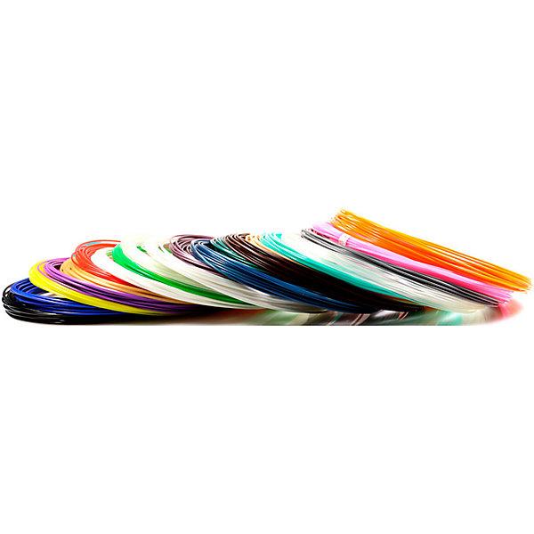 Набор пластика для 3D ручек Unid PLA-20 20 цветов, 10 м каждыйПластик для 3D ручек<br>Характеристики товара: <br><br>• возраст: от 4 лет;<br>• тип пластика: PLA;<br>• в комплекте: 20 катушек по 10 метров;<br>• цвета: белый, черный, красный, синий, желтый, зеленый, сиреневый, оранжевый, розовый, золото, серебро, прозрачный, аквамарин, шоколадный, бежевый, зеленый металлик, синий металлик, фиолетовый металлик, светящийся голубым, светящийся зеленым;<br>• размер упаковки: 18,5х18,7х5,7 см;<br>• вес упаковки: 550 гр.;<br>• страна производитель: Китай.<br><br>Набор пластика для 3D ручек Unid PLA-20 — необходимый материал при использовании 3D ручки для создания объемных рисунков. Пластик под нагреванием способен принимать разнообразные формы. Пластик является нетоксичным и безопасным.<br><br>Набор пластика для 3D ручек Unid PLA-20 можно приобрести в нашем интернет-магазине.<br>Ширина мм: 185; Глубина мм: 187; Высота мм: 75; Вес г: 550; Возраст от месяцев: 48; Возраст до месяцев: 1188; Пол: Унисекс; Возраст: Детский; SKU: 7556143;