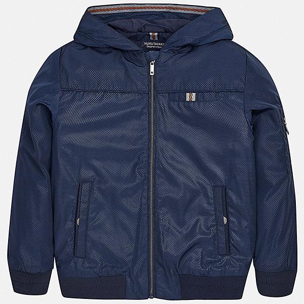 Куртка Mayoral для мальчикаВерхняя одежда<br>Характеристики товара:<br><br>• цвет: синий<br>• состав ткани: 100% полиэстер<br>• подкладка: 100% полиэстер<br>• утеплитель: нет<br>• сезон: демисезон<br>• особенности куртки: с капюшоном<br>• застежка: молния<br>• страна бренда: Испания<br>• неповторимый стиль Mayoral<br><br>Легкая демисезонная куртка для мальчика от Майорал поможет обеспечить ребенку комфорт и тепло. Детская куртка отличается модным и продуманным дизайном. В куртке для мальчика от испанской компании Майорал ребенок будет выглядеть модно, а чувствовать себя - комфортно. <br><br>Куртку Mayoral (Майорал) для мальчика можно купить в нашем интернет-магазине.<br>Ширина мм: 356; Глубина мм: 10; Высота мм: 245; Вес г: 519; Цвет: синий; Возраст от месяцев: 96; Возраст до месяцев: 108; Пол: Мужской; Возраст: Детский; Размер: 128/134,170,164,158,152,140; SKU: 7556518;