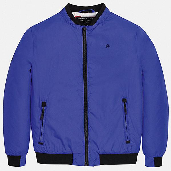 Куртка Mayoral для мальчикаВетровки и жакеты<br>Характеристики товара:<br><br>• цвет: синий<br>• состав ткани: 100% полиэстер<br>• подкладка: 100% полиэстер<br>• утеплитель: нет<br>• сезон: демисезон<br>• особенности куртки: без капюшона, спортивный стиль<br>• застежка: молния<br>• страна бренда: Испания<br>• неповторимый стиль Mayoral<br><br>Эта детская ветровка подойдет для переменной погоды. Отличный способ обеспечить ребенку тепло и комфорт - надеть такую куртку от Mayoral. Детская куртка сшита из приятного на ощупь материала. Куртка для мальчика Mayoral дополнена подкладкой и карманами.<br><br>Куртку Mayoral (Майорал) для мальчика можно купить в нашем интернет-магазине.<br>Ширина мм: 356; Глубина мм: 10; Высота мм: 245; Вес г: 519; Цвет: синий; Возраст от месяцев: 96; Возраст до месяцев: 108; Пол: Мужской; Возраст: Детский; Размер: 128/134,170,164,158,152,140; SKU: 7556525;