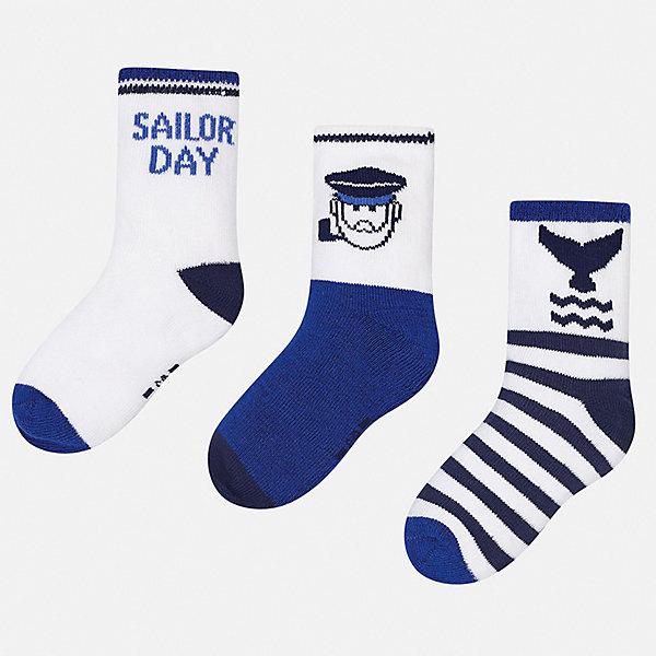 Купить Комплект:3 пары носок Mayoral для мальчика, Китай, лиловый, 19-22, 22-24, Мужской