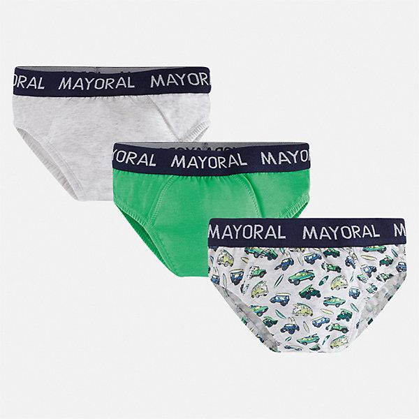 Комплект:3 пары трусов Mayoral для мальчикаНижнее бельё<br>Характеристики товара:<br><br>• цвет: мульти<br>• комплектация: 3 шт.<br>• состав ткани: 95% хлопок, 5% эластан<br>• сезон: круглый год<br>• пояс: резинка<br>• страна бренда: Испания<br>• неповторимый стиль Mayoral<br><br>Эти удобные трусы для мальчика от популярного испанского бренда Mayoral состоят преимущественно из натурального мягкого и дышащего хлопка. Комплект состоит из трех трусов. Боксеры для мальчика удобно сидят благодаря мягкой резинке.<br><br>Комплект: 3 пары трусов Mayoral (Майорал) для мальчика можно купить в нашем интернет-магазине.<br>Ширина мм: 196; Глубина мм: 10; Высота мм: 154; Вес г: 152; Цвет: зеленый; Возраст от месяцев: 18; Возраст до месяцев: 24; Пол: Мужской; Возраст: Детский; Размер: 92,164,158,152,140,128,116,104; SKU: 7556909;