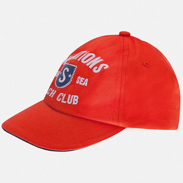 Кепка Mayoral для мальчикаГоловные уборы<br>Характеристики товара:<br><br>• цвет: красный<br>• состав ткани: 100% хлопок<br>• подкладка: 100% полиэстер<br>• сезон: лето<br>• застежка: металл<br>• страна бренда: Испания<br>• неповторимый стиль Mayoral<br><br>Красная детская кепка имеет козырек, обеспечивающий дополнительную защиту от солнца. В такой кепке для детей от испанской компании Майорал ребенок будет защищен от перегревания головы на солнце. Удобная кепка для мальчика от популярного бренда Mayoral отличается оригинальным декором. <br><br>Кепку Mayoral (Майорал) для мальчика можно купить в нашем интернет-магазине.<br>Ширина мм: 89; Глубина мм: 117; Высота мм: 44; Вес г: 155; Цвет: бежевый; Возраст от месяцев: 24; Возраст до месяцев: 36; Пол: Мужской; Возраст: Детский; Размер: 54,52,50; SKU: 7557119;