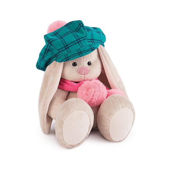 Мягкая игрушка Budi Basa Зайка Ми в зеленой кепке и розовом шарфе, 18 смМягкие игрушки животные<br>Характеристики товара:<br><br>• высота игрушки: 18 см;<br>• возраст: от 3 лет;<br>• материал: текстиль, искусственный мех, наполнитель, пластик;<br>• размер упаковки: 15х14х15 см;<br>• страна бренда: Россия.<br><br>Мягкая и пушистая Зайка Ми станет лучшим другом для ребенка. Она изготовлена из приятных на ощупь материалов, поэтому её так удобно обнимать и засыпать с ней в обнимку. Зайка одета в большую зелёную в клетку кепку и розовый шарф с крупным помпоном. Игрушка изготовлена из качественных материалов, безопасных для детей.<br><br>Зайку Ми в зеленой кепке и розовом шарфе (малая), Budi Basa (Буди Баса) можно купить в нашем интернет-магазине.<br>Ширина мм: 150; Глубина мм: 140; Высота мм: 140; Вес г: 270; Возраст от месяцев: 36; Возраст до месяцев: 2147483647; Пол: Унисекс; Возраст: Детский; SKU: 7557721;