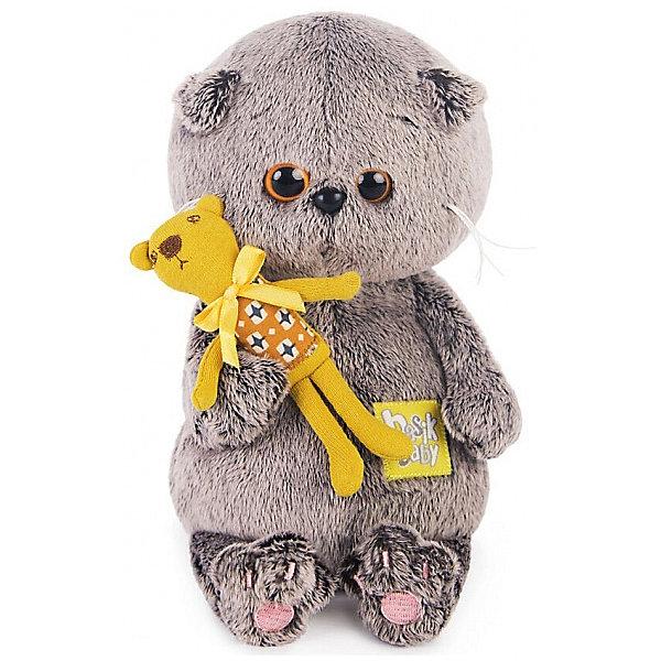 Мягкая игрушка Budi Basa Кот Басик Baby с медвежонком, 20 смМягкие игрушки-кошки<br>Характеристики товара:<br><br>• высота игрушки: 20 см;<br>• возраст: от 3 лет;<br>• материал: текстиль, искусственный мех, наполнитель, пластик;<br>• размер упаковки: 11,3х22,3х22,3 см;<br>• страна бренда: Россия.<br><br>Пушистый Котёнок Басик - невероятно милая и добрая игрушка, которая придётся по душе детям и взрослым. Басик держит в лапках свою любимую игрушку - плюшевого медвежонка в разноцветной футболке. Игрушка изготовлена из качественных материалов, приятных на ощупь. Басика очень приятно обнимать, и, к тому же, он замечательно украсит интерьер комнаты.<br><br>Басика Baby с медвежонком, Budi Basa (Буди Баса) можно купить в нашем интернет-магазине.<br>Ширина мм: 223; Глубина мм: 223; Высота мм: 113; Вес г: 340; Возраст от месяцев: 36; Возраст до месяцев: 2147483647; Пол: Унисекс; Возраст: Детский; SKU: 7557723;
