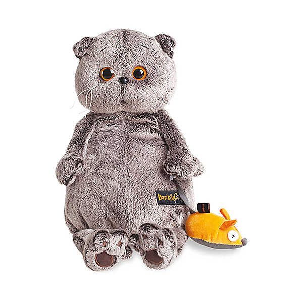 Купить Мягкая игрушка Budi Basa Кот Басик и мышка, 22 см, Россия, Унисекс