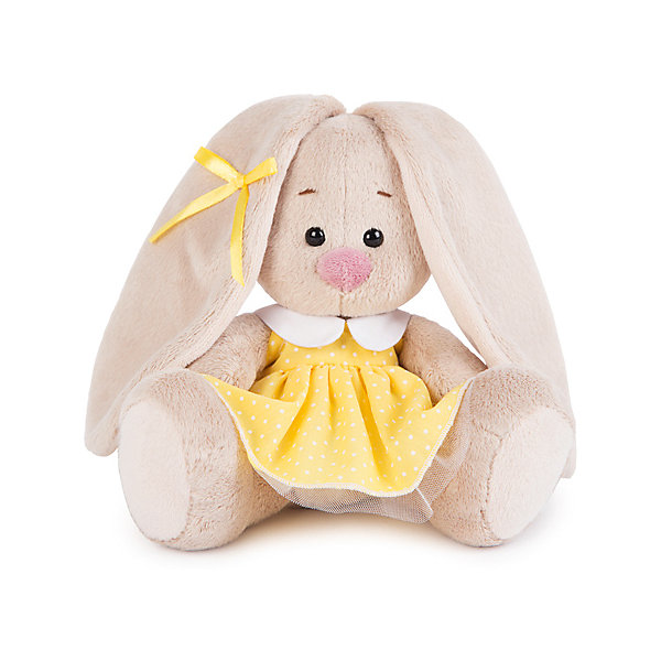 Мягкая игрушка Budi Basa Зайка Ми в желтом платье в горошек, 15 смМягкие игрушки зайцы и кролики<br>Характеристики товара:<br><br>• высота игрушки: 15 см;<br>• возраст: от 3 лет;<br>• материал: текстиль, искусственный мех, наполнитель, пластик;<br>• размер упаковки: 13х13,5х13,5 см;<br>• страна бренда: Россия.<br><br>Зайка Ми в желтом платье подарит море позитивных эмоций взрослым и детям. Мягкую игрушку, изготовленную из приятных на ощупь материалов, очень удобно обнимать и даже укладывать спать. Зайка одета в жёлтое платье в мелкий горошек, а её ушко украшает небольшой бантик в цвет платья. Такая малышка замечательно впишется в интерьер каждой комнаты.<br><br>Зайку Ми в желтом платье в горошек (малыш), Budi Basa (Буди Баса) можно купить в нашем интернет-магазине.<br>Ширина мм: 135; Глубина мм: 135; Высота мм: 130; Вес г: 210; Возраст от месяцев: 36; Возраст до месяцев: 2147483647; Пол: Унисекс; Возраст: Детский; SKU: 7557728;