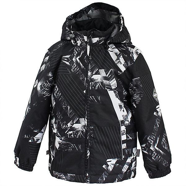Куртка JODY HuppaДемисезонные куртки<br>Характеристики товара:<br><br>• цвет: черный принт;<br>• модель: Jody;<br>• состав: 100% полиэстер;<br>• подкладка: 100% полиэстер, тафта;<br>• утеплитель: 100% полиэстер, 100 гр.;<br>• сезон: демисезон;<br>• температурный режим: от -5 до +10С;<br>• водонепроницаемость: 10000 мм ;<br>• воздухопроницаемость:10000 г/м2/24ч;<br>• застежка: молния с защитой подбородка;<br>• съёмный капюшон на кнопках;<br>• кромка капюшона на резинке;<br>• манжеты рукавов на мягкой эластичной резинке;<br>• эластичный шнур-утяжка по низу куртки;<br>• два кармана;<br>• светоотражающие детали;<br>• страна бренда: Эстония;<br>• страна изготовитель: Эстония.<br><br>Утепленная куртка на молнии обеспечит детям тепло и комфорт. Куртка с капюшоном сделана из материала, отталкивающего воду, дополнена подкладкой из тафты и утеплителем, поэтому изделие идеально подходит длядемисезона. <br><br>Материал изделия с мембранной технологией: защищает от влаги и ветра, он легко выводит лишнюю влагу наружу. Капюшон легко отстегивается при помощи кнопок. Имеется два кармана.<br><br>Куртку JODY от бренда Huppa (Хуппа) можно купить в нашем интернет-магазине.<br>Ширина мм: 356; Глубина мм: 10; Высота мм: 245; Вес г: 519; Цвет: черный; Возраст от месяцев: 72; Возраст до месяцев: 84; Пол: Унисекс; Возраст: Детский; Размер: 122,152,146,140,134,128; SKU: 7570750;