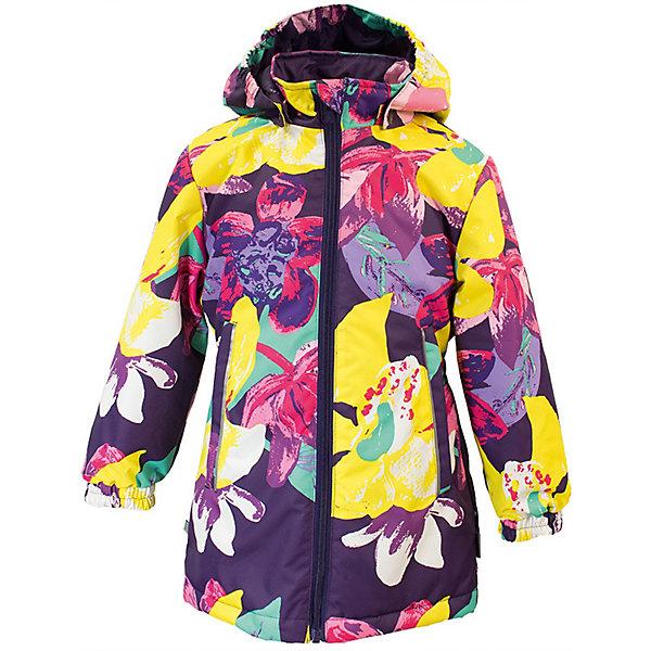 Куртка JUNE Huppa для девочекВерхняя одежда<br>Характеристики товара:<br><br>• цвет: тёмно-фиолетовый принт; <br>• модель: June;<br>• состав: 100% полиэстер;<br>• подкладка: 100% полиэстер, тафта;<br>• утеплитель: 100% полиэстер, 100 гр.;<br>• сезон: демисезон;<br>• температурный режим: от -5 до +10С;<br>• водонепроницаемость: 10000 мм ;<br>• воздухопроницаемость:10000 г/м2/24ч;<br>• застежка: молния с защитой подбородка;<br>• съёмный капюшон на кнопках;<br>• кромка капюшона на резинке;<br>• мягкие эластичные манжеты;<br>• талия на спине на резинке;<br>• приталенный крой;<br>• два кармана на молнии;<br>• светоотражающие детали;<br>• страна бренда: Эстония;<br>• страна изготовитель: Эстония.<br><br>Утепленная куртка на молнии обеспечит детям тепло и комфорт. Куртка с капюшоном сделана из материала, отталкивающего воду, дополнена подкладкой из тафты и утеплителем, поэтому изделие идеально подходит для межсезонья. <br><br>Материал изделия - с мембранной технологией: защищает от влаги и ветра, он легко выводит лишнюю влагу наружу. Куртка дополнена мягкими эластичными манжетами. Капюшон легко отстегивается при помощи кнопок. Имеется два кармана на молнии.<br><br>Куртку JUNE от бренда Huppa (Хуппа) можно купить в нашем интернет-магазине.<br>Ширина мм: 356; Глубина мм: 10; Высота мм: 245; Вес г: 519; Цвет: лиловый; Возраст от месяцев: 36; Возраст до месяцев: 48; Пол: Женский; Возраст: Детский; Размер: 104,98,92,152,146,140,128,122,116,110,134; SKU: 7570872;