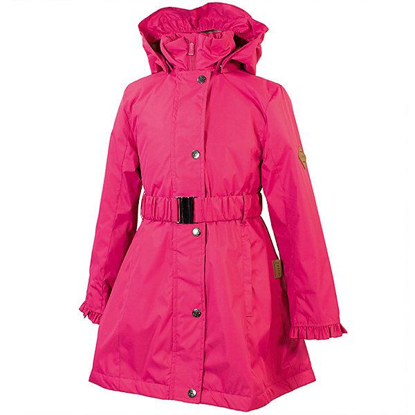 Пальто LEANDRA Huppa для девочекПальто и плащи<br>Характеристики товара:<br><br>• цвет: фуксия; <br>• модель: Leandra;<br>• состав: 100% полиэстер;<br>• подкладка: 100% полиэстер, тафта;<br>• утеплитель: 100% полиэстер, 40 гр.;<br>• сезон: демисезон;<br>• температурный режим: от -5 до +10С;<br>• водонепроницаемость: 5000 мм ;<br>• воздухопроницаемость: 5000 г/м2/24ч;<br>• ветронепроницаемая;<br>• застежка: молния с защитой подбородка;<br>• дополнительная планка на кнопках;<br>• съёмный капюшон на кнопках;<br>• низ сзади, капюшон и манжеты украшены воланами;<br>• в комплекте съёмный ремень;<br>• приталенный крой;<br>• два кармана на молнии;<br>• внутренний карман на молнии;<br>• светоотражающие детали;<br>• страна бренда: Эстония;<br>• страна изготовитель: Эстония.<br><br>Утепленное пальто на молнии обеспечит детям тепло и комфорт. Пальто с капюшоном сделано из материала, отталкивающего воду, дополнена подкладкой из тафты и утеплителем, поэтому изделие идеально подходит для межсезонья. <br><br>Материал изделия - с мембранной технологией: защищает от влаги и ветра, ветронепродуваемое. Капюшон легко снимается при помощи кнопок, пальто дополнено съёмный ремнём. Имеется два кармана на молнии и один внутренний карман на молнии.<br><br>Пальто LEANDRA от бренда Huppa (Хуппа) можно купить в нашем интернет-магазине.<br>Ширина мм: 356; Глубина мм: 10; Высота мм: 245; Вес г: 519; Цвет: розовый; Возраст от месяцев: 132; Возраст до месяцев: 144; Пол: Женский; Возраст: Детский; Размер: 152,146,140,134,128,122; SKU: 7570964;